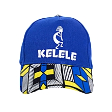 Royal Blue And Blue Baseball / Sports Hat With Kelele Color On Brim