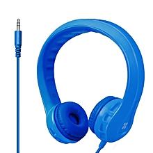 Flexure- Blue Flexible Lightweight Kids-safe On-Ear Foam Headset