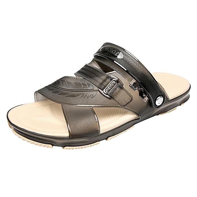 0ea9776af0b5 birthpar storeSummer Style Men s Casual Breathable Comfortable Non-slip Sandals  Jelly Shoes-black