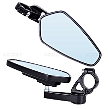 1 Pair 7/8'' Motorcycle Rearview Mirrors Black MSX125