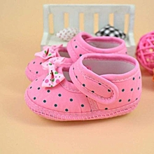 bluerdream-Baby Bowknot Boots Soft Crib Shoes- Pink