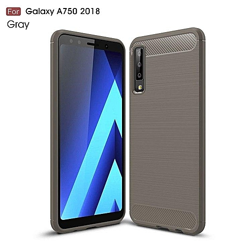 size 40 bbc89 1ce01 For Samsung Galaxy A7 2018 Case Silicone Rugged Armor Soft Back Cover Case  For Samsung A7 2018 A750 Phone Fundas Coque Cases