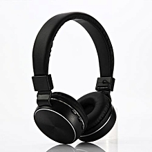 Bluetooth 4.2 Headphones Stereo Headset With FM Radio TF MP3 Player Support Wired Connection-Black