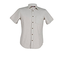 Silver Brich - Short Sleeve Mens Slim Fit Shirt
