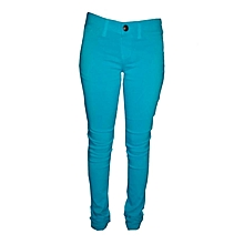 Stretchy Skinny Trousers in Lt Turquoise