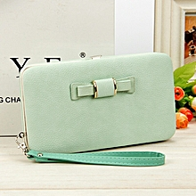 The new Korean version of lady's wallet has long mobile phone bag bow tie lunch box female bag tide