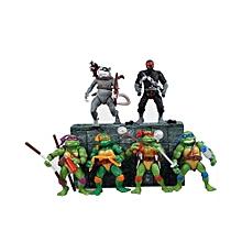 6 Pcs/set Teenage Mutant Ninja Turtles Shape Desk Ornament Toys - Multicolor