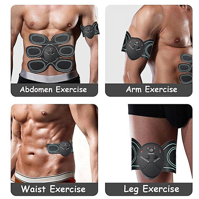 New Muscle Training Body Shape Fit Set Ems Exercise Fitness Massage Home Trainer Traveling Abdominal Exercisers