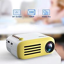 "YG200 320*240 Projector 94"" TF card AV USB HDMI US - Yellow"