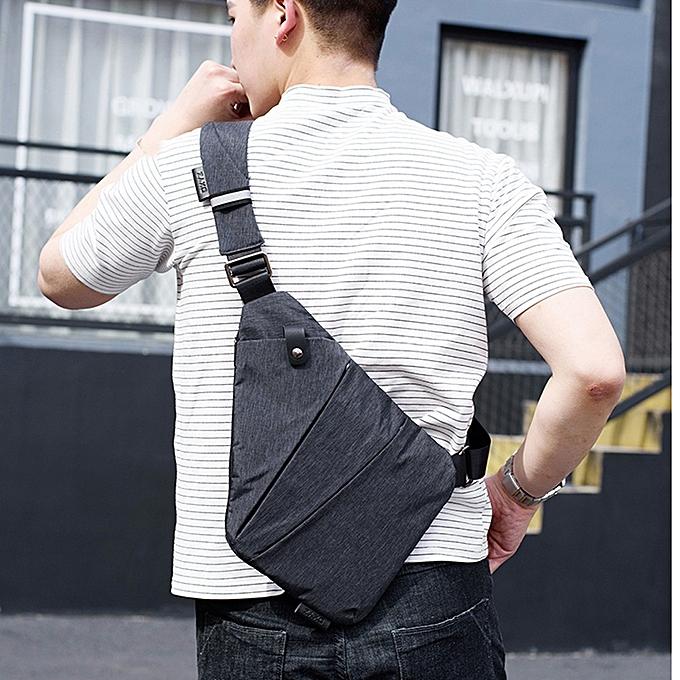 fdc3b829b37c koaisd Magnetic Button Mens Chest Bags Fashion Travel Crossbody Bag Man  Messenger Bag A