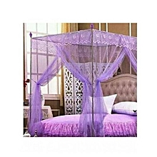 Mosquito Net with Metallic Stand - 6x6 - Purple