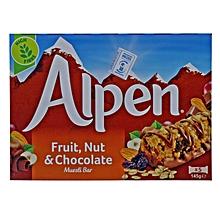 5 Fruit And Nut Choco Bars - 145g