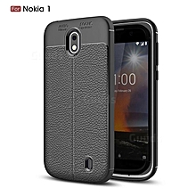 Black Rubber Phone Cover for Nokia 1