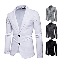 Stylish 2 Buttons Casual Blazers Suit Jacket for Men