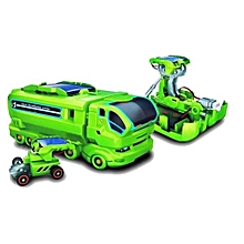 7 In 1 Rechargeable Solar Power Car Kit Educational Toy-Green