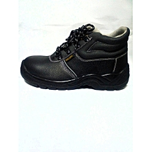 Safety Boots- Anti Static, Oil Acid Resistant-Steel Toe-Leather - Black