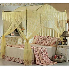 Curved Mosquito Net with Metallic Stand - Cream