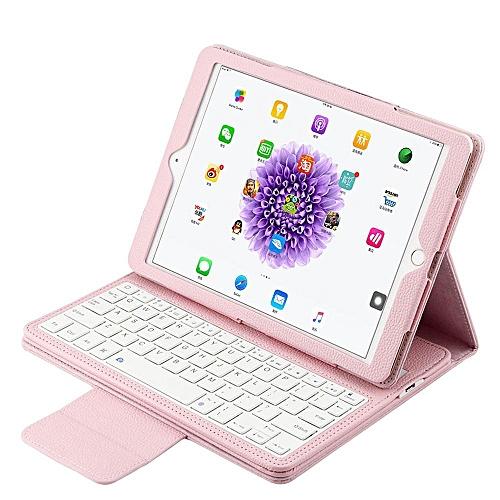 22da7318d95 Generic iPad 2018/ 2017 Keyboard Case, Folding PU Leather Folio Cover with  Detachable Removable Bluetooth Keyboard for Apple iPad 9.7 Inch 2017/ 2018/  iPad ...