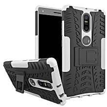 "For [Phab 2 Plus] Case, Hard PC+Soft TPU Shockproof Tough Dual Layer Cover Shell For 6.44"" Lenovo PB2-670N, White"