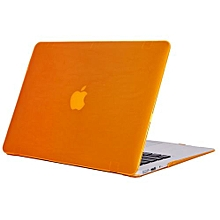 """13"""" Air Case, Crystal Hard Rubberized Cover For Macbook Air 13.3 Inch, Orange"""