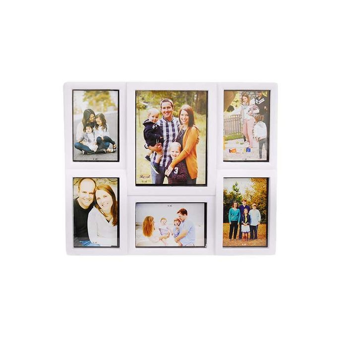 Ema family photo frame 6 portion 4 6 white buy for Home decorations on jumia