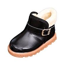 bluerdream-New Autumn Winter Keep Warm Fashion Children Thickening Boys Girls Snow Boots - Black