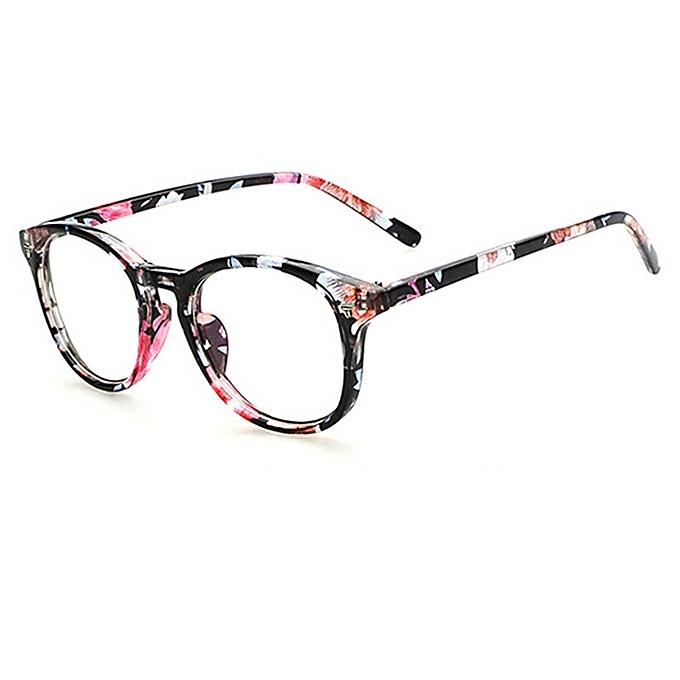 92f541f85c Vintage Men Women Eyeglass Frame Glasses Retro Spectacles Clear Lens  Eyewear R Blue Flower