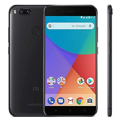 Mi A1 4GB+64GB Global Official Version Dual Back Cameras 5.5 Inch Android 7.1 Qualcomm Snapdragon 625 Octa Core 2.0GHz Dual SIM 4G Smartphone(Black)