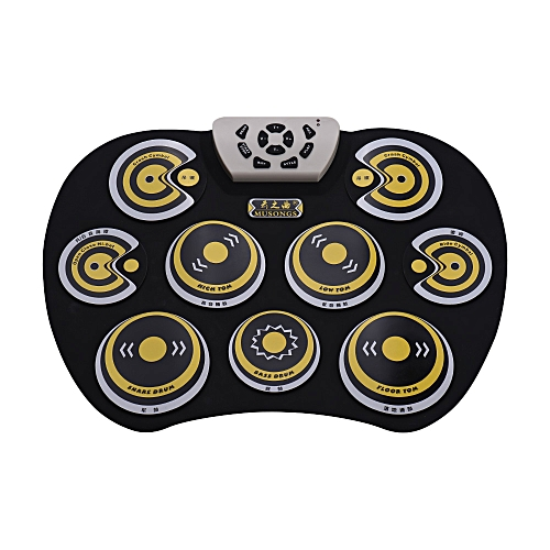 Electronic Drum Pad USB Cable Foldable Roll Up Digital Drum Set with  Drumsticks Double Foot Pedals Percussion Instrument Drumpad for Kids  Beginners