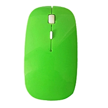 2.4 GHz Slim Optical Wireless Mouse Mice + USB Receiver for Macbook Laptop PC-Green