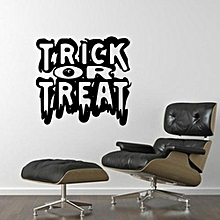 Happy Halloween Black Ghost Wall Sticker Window Home Decoration Decal Decor