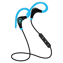 Wireless Bluetooth Earphones Headphones Sweatproof For Sports Gym Stereo Music Blue