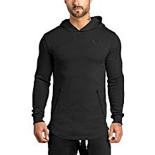 Men's Hot Sale Fashion Men's Hoodie Warm Hooded Sweatshirt Coat Jacket Outwear Sweater-black