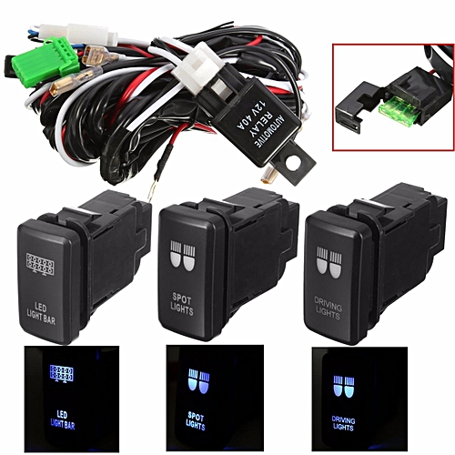 generic 40a 12v led driving spot light bar wiring harness relay switch for  toyota atv (rear light)