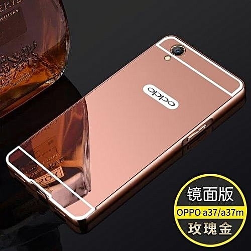 sports shoes 04e9b 0dc34 Luxury High Quality Aluminum Metal Frame Mirror Back Cover Case Phone  Cover/Shockproof Phonecase/ Phone Shell/ Phone Protector For Oppo A37 /  Oppo A37 ...