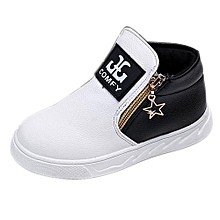 Children Casual Sport Boy Girls Fashion Martin Boots Sneakers Autumn Shoes WH/21-White