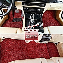Universal Car Anti-slippery Rubber Mat Pvc Coil Soft Floor Protector Carpet(red)