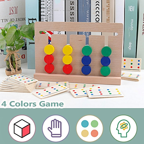 Children Toy Game Color Match Wooden Board Early Childhood Educational Toys
