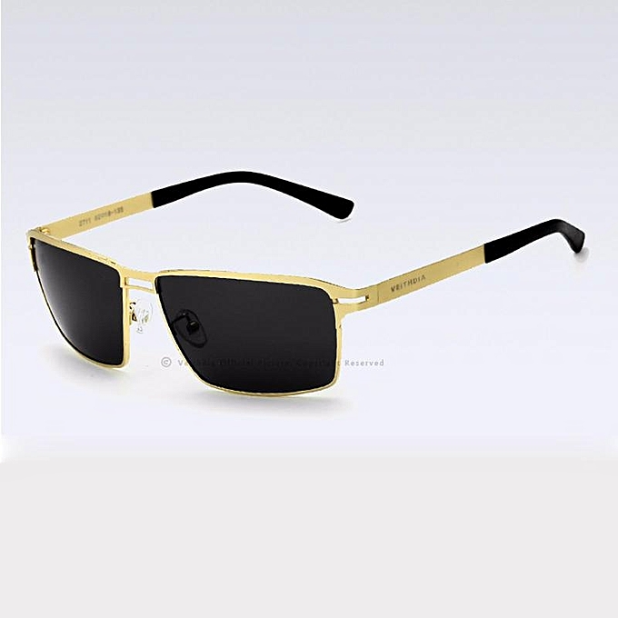 5787ca480b9 VEITHDIA 2711 Fashion Square Polarized Sunglasses Men Driving Glasses metal  Alloy Frame Gold grey XBQ-