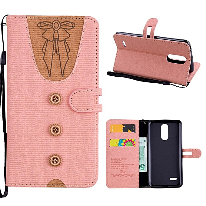 low priced daeb5 f2e68 LG K8 2017 Case,Cute Lovely Style Premium Jeans Denim Splice Hit Color  [Butterfly Knot] Pattern PU Leather +Soft TPU Wallet Stand Flip Case For LG  K8 ...