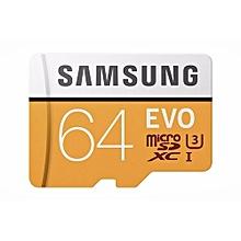Samsung 100MB/s(U3)MicroSD EVO Memory Card With Adapter 64GB