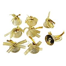 Christmas Tree Decorations Bell 3cm Golden Bowknot Bell 8PCS-