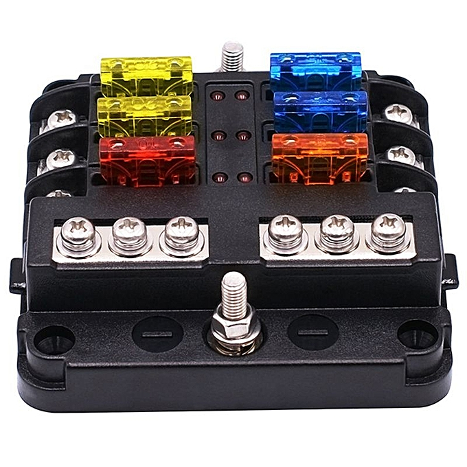 1 In 6 Out Auto Fuse Box Waterproof Blade Fuse Block Box For Car Suv Waterproof Auto Fuse Box on