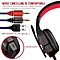 Gaming Headset with HD Mic and LED Light for PS4 X Box Laptop Computer, Cellphone, PS4  and others  3.5mm Wired Noise Isolation Gaming Headphones - Volume Control.(Red and Black)