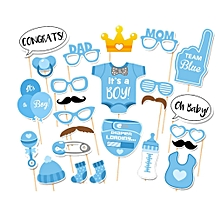 Baby Birthday Party Decorations Photo Booth Props DIY Kits Fun Supplies