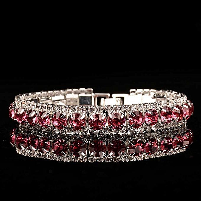 a231b5602 Women Temperament Full Rhinestone High Quality Shiny Boutique Bracelet