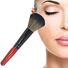 5 PCS Wooden Handle Soft Head Buffer Foundation Powder Blush Brush Makeup Tools (Wine Red)