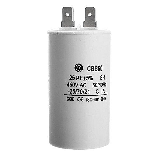 CBB60-25UF 450V AC 50Hz/60Hz Starting Gasoline Generator Power Capacitor CQC