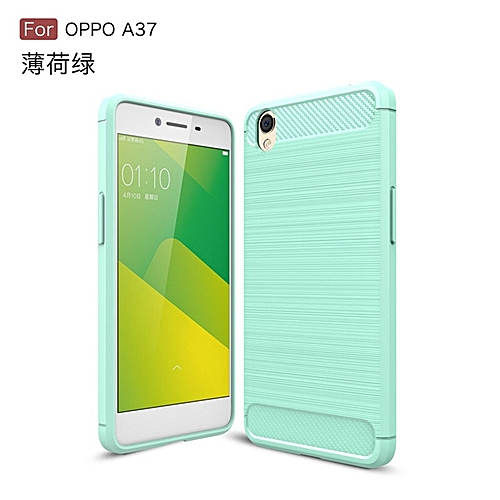 san francisco 29027 18a01 For Oppo Neo 9 A37Soft Carbon Fiber Case Cover Shockproof Full Protector  Metal Wire Drawing Casing Armor For Oppo Neo 9A37 Shell 254705 (Green)