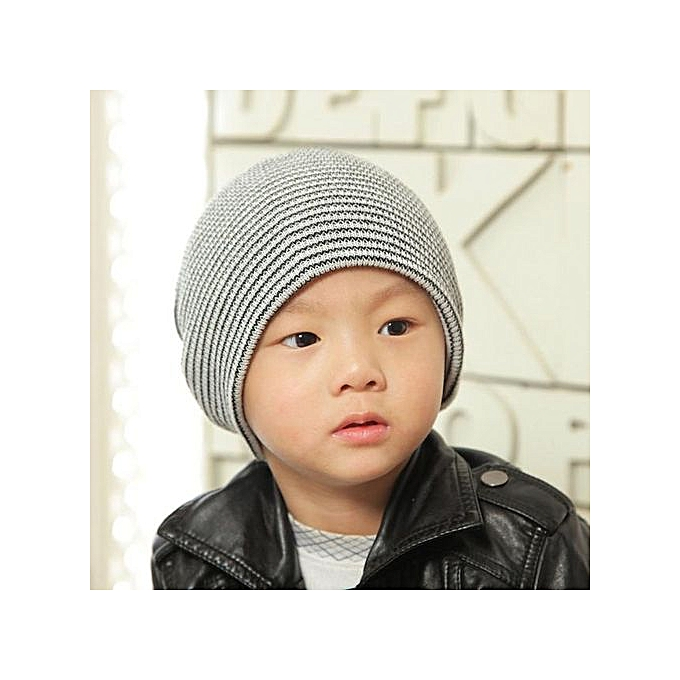 6c5b7324eae Zetenis Baby Beanie Boy Girls Soft Hat Children Winter Warm Kids Knitted Cap  BK -Black